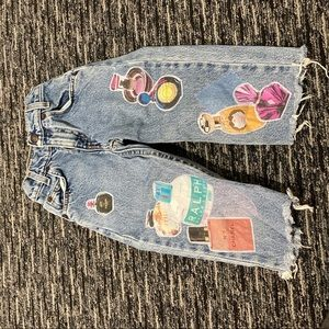 ADORABLE JEANS WITH PATCHES AMAZING CONDITION